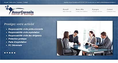 Site vitrine Assurconseils.fr