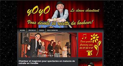 Site d'un artiste clown : yoyo-le-clown.fr