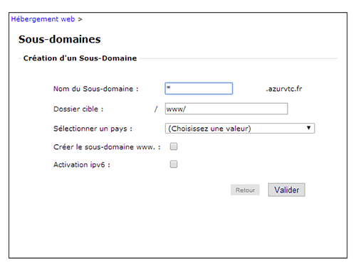 Activation du wildcard chez OVH