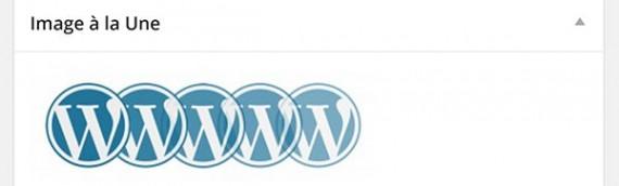 Comment mettre une image à la une d'un article dans wordpress