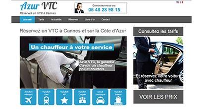 azurvtc.fr, site d'un chauffeur privé