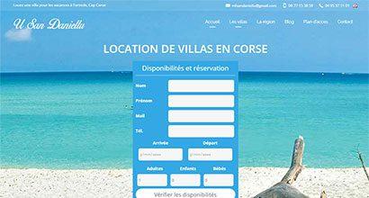 Résidences U San Daniellu, site de location de villas